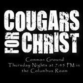 Poster for the Cougars for Christ meeting
