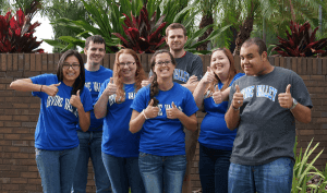 People wearing Irvine Valley College Apparel
