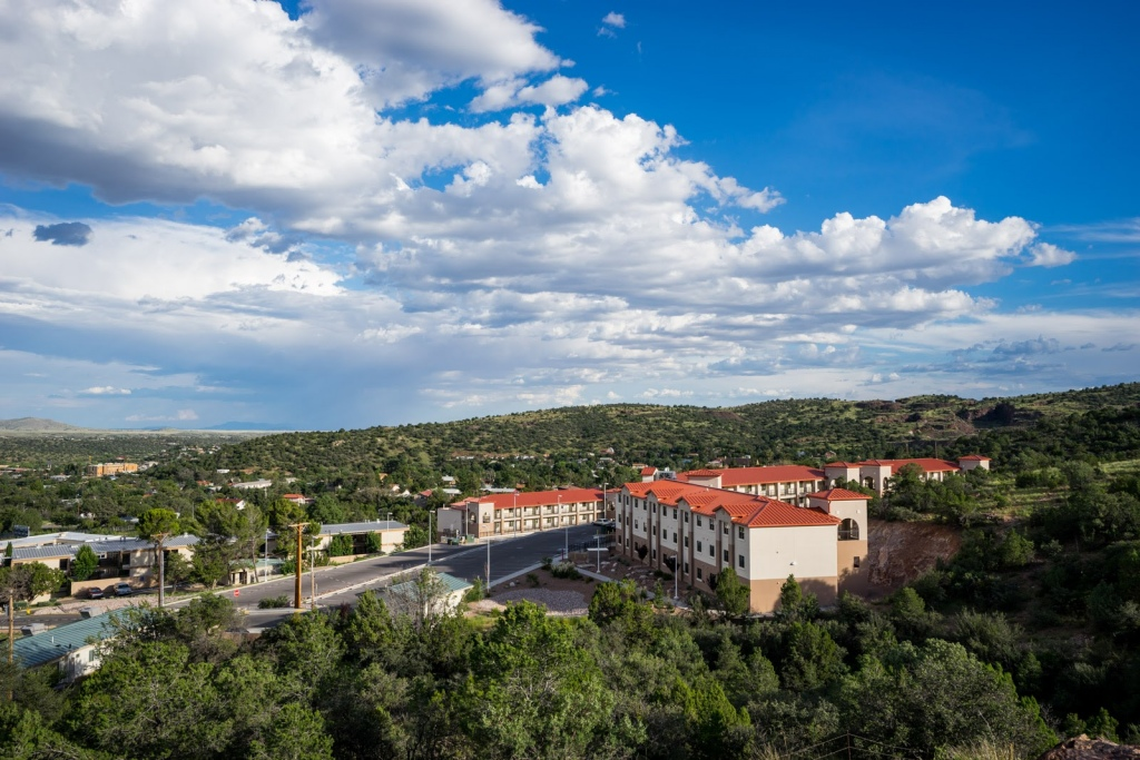 Western New Mexico University dorms aerial view