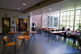 Students having refreshments at the Davey Café