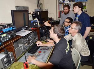 Operators at the NDSU radio society