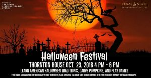 A poster for the TSU Halloween Festival