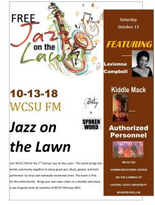 A poster for the Jazz on The Lawn Event