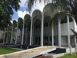Front view of the Mid-City Library