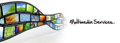 Multimedia services graphic logo
