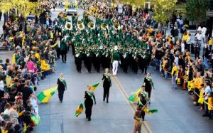The NDSU homecoming parade in a past event