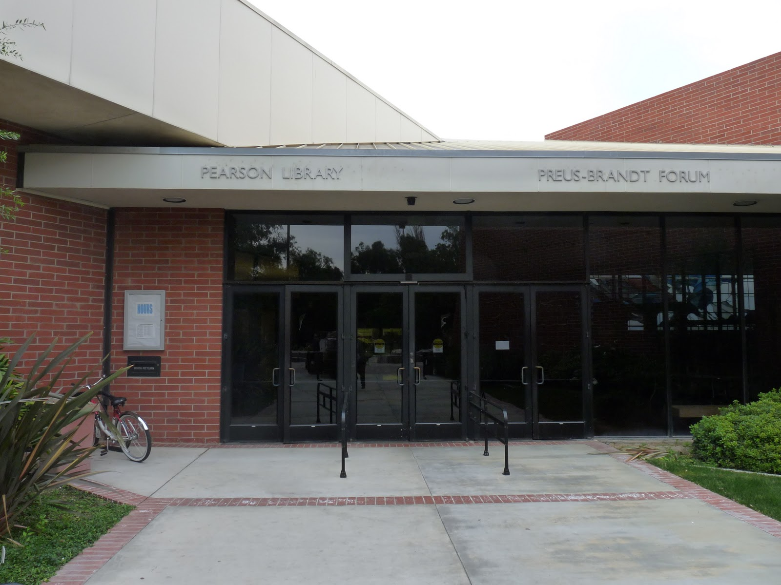 Front view of the Pearson Library