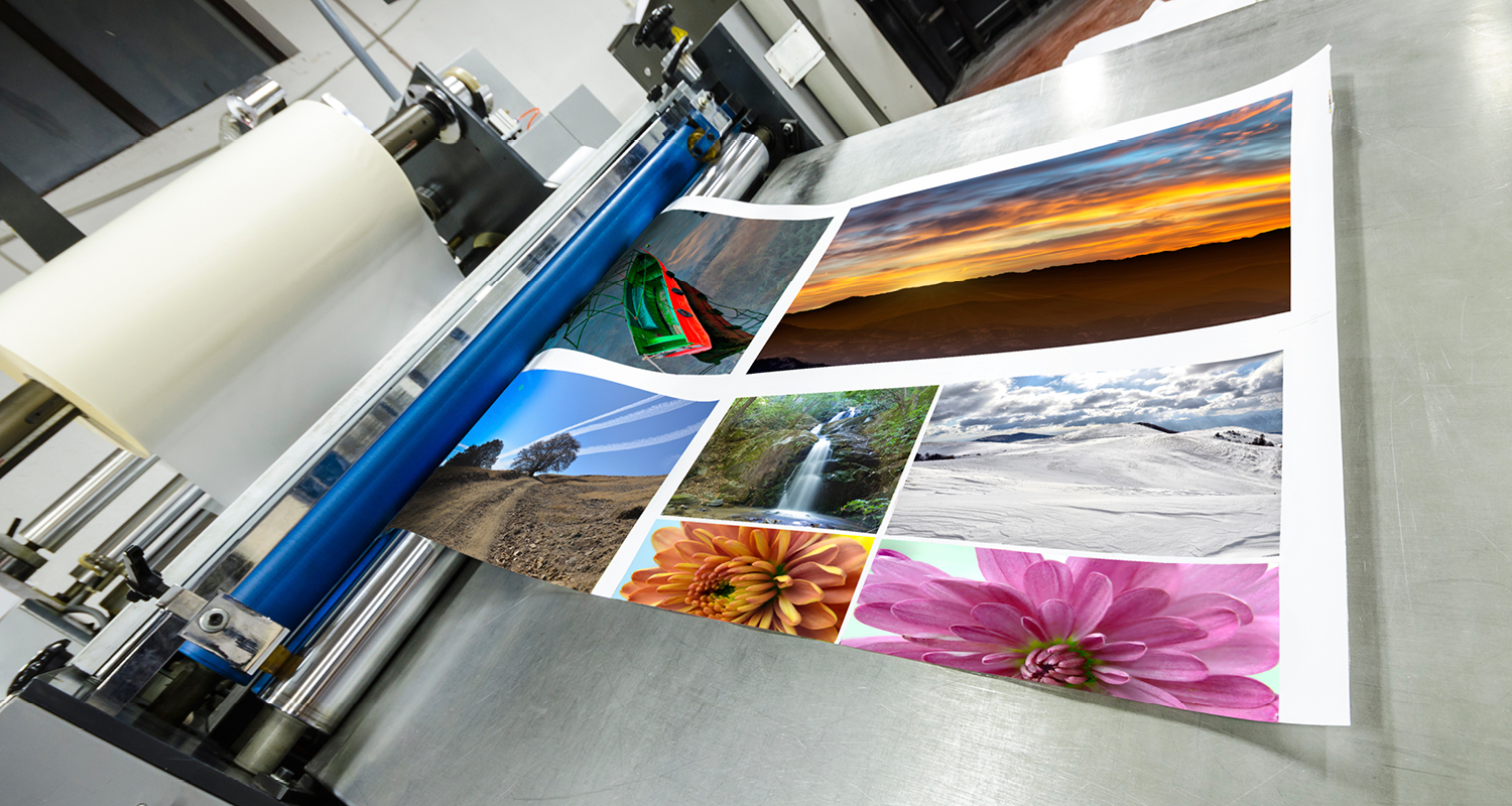 A printer printing pictures