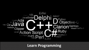 The different programming languages