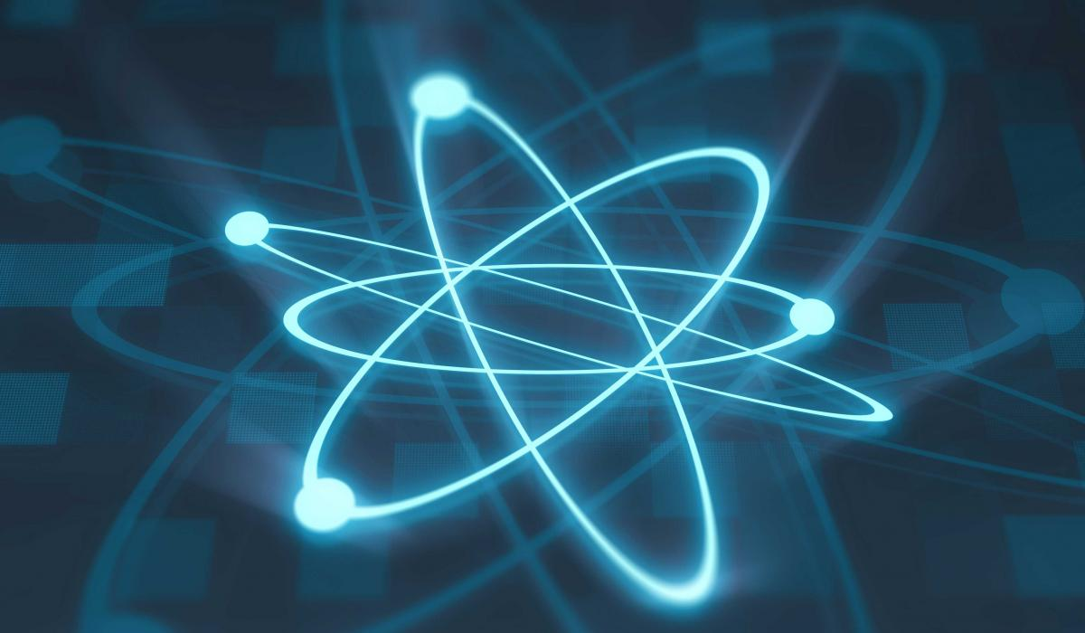 An illustration of an atoms in an element using quantum mechanics