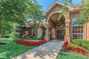 Front entrance of Crowne Chase Apartments