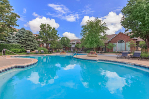 Pool located at Creekside Apartments