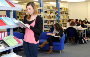 Students reading at this library