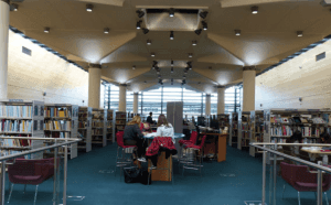This library's spacious interior
