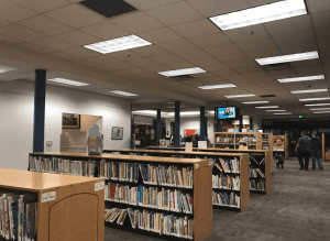 An image from inside the library