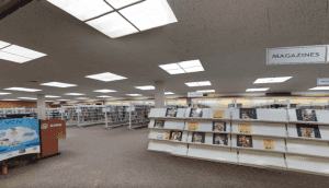 This is the library's interior