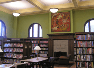 This is inside this luxurious library