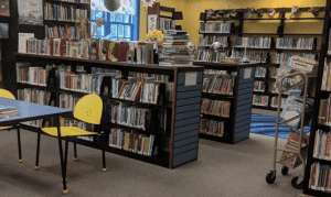 A segment of this library's interior