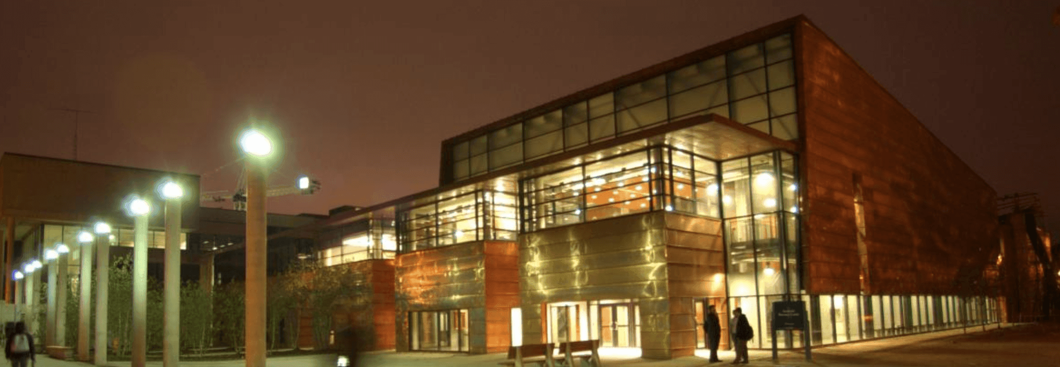 University of Toronto Scarborough library lit up at night