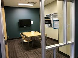 An empty study room