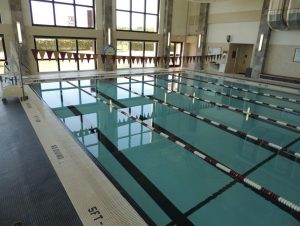 Inside the TSU swimming pool