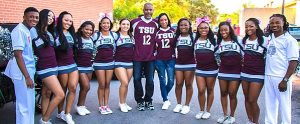 Photo showing members of the Cheerleading Club