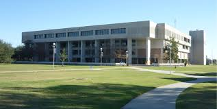 Front view of The Earl K. Long Library