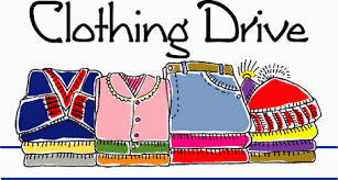 a picture of a student clothing drive poster