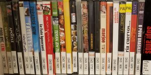 Video Collections on shelves