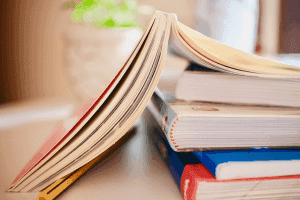 a photo of books