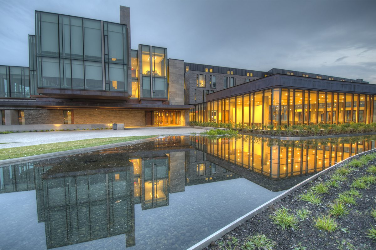 The business building at Western University