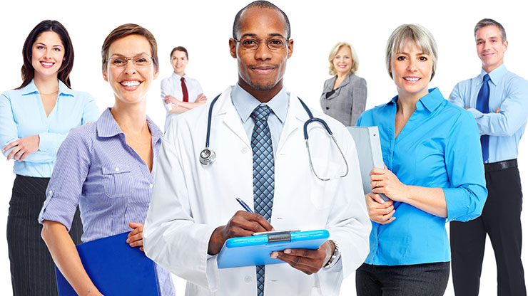 A Variety of Health Professionals