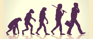 Stages in the transformation of man from primitive age to modern age