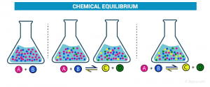 reactions - chemical equilibrium stages