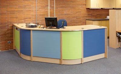 library circulation desk at adelphi university