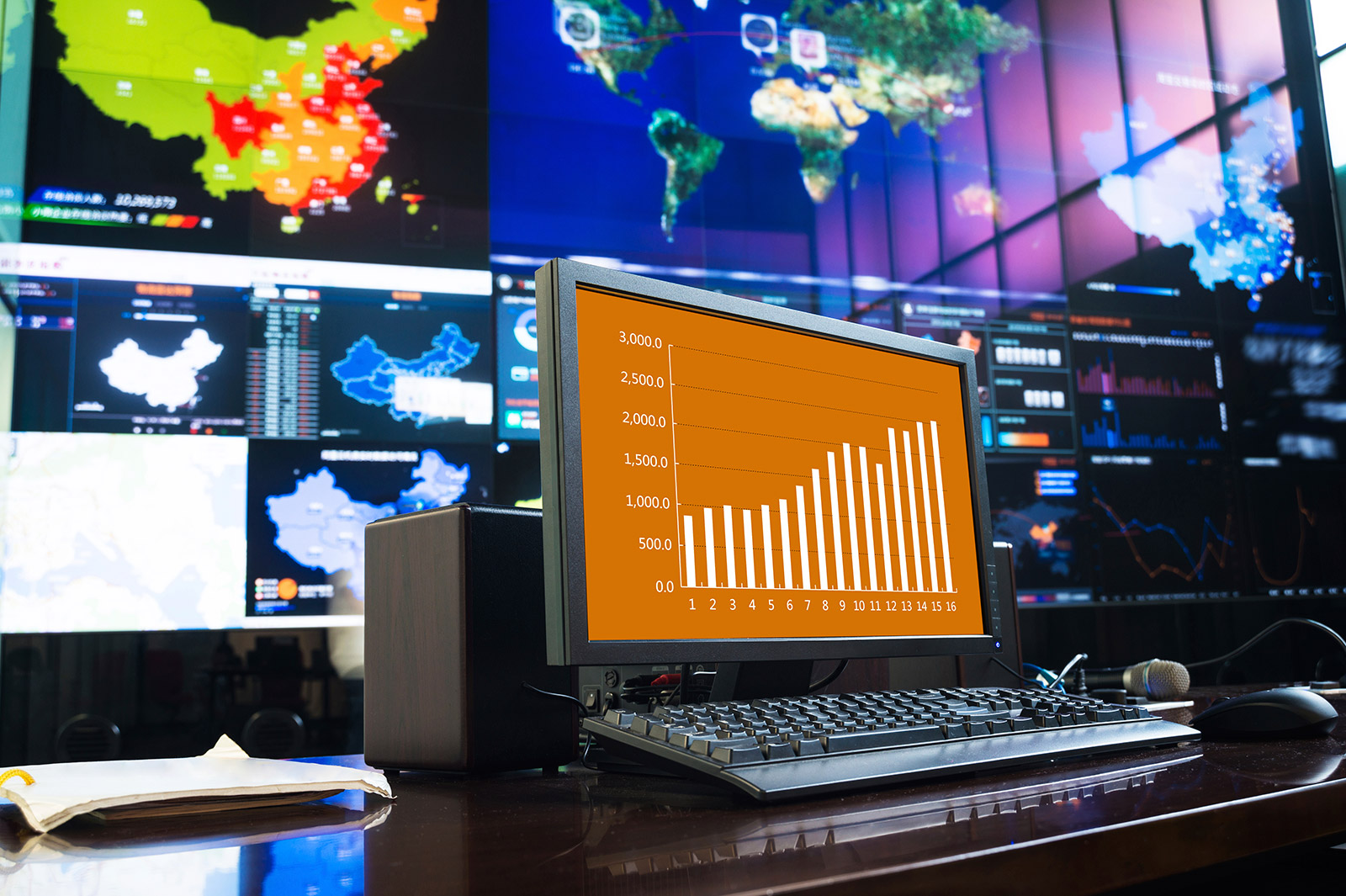 This is the picture of a computer displaying graphs
