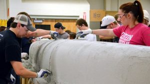 Civil Engineers working on a tube