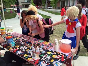 Face-painting and tabling - Cosplay Club.