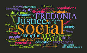 This image shows some of what social work entails.