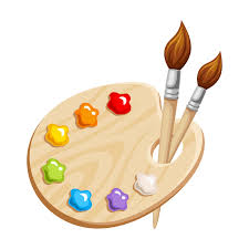 Paint and paint brushes
