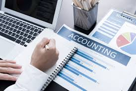 Person working on accounting work