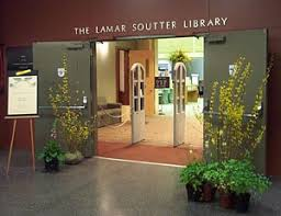 This image shows the entrance of the library.