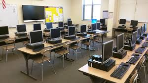 This image showcases one of the classrooms that doubles as a computer lab.