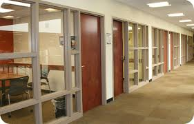This image displays a few of the study rooms available.