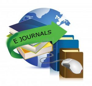 "A graphical image of the world with the words ""E JOURNALS"""