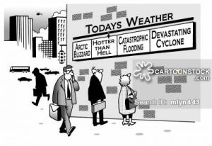 comic picture indicating the weather conditions