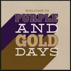 The Purple & Gold Days' Poster