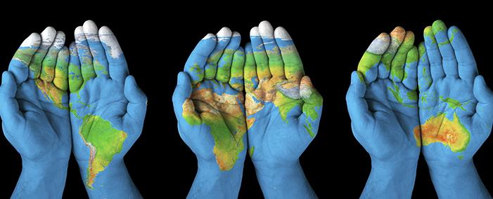 A picture representing global inter-development