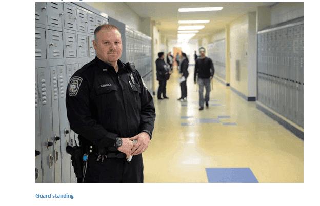safety officer in hallway
