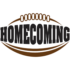 homecoming logo with football